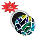Mosaic Shapes 1.75  Magnets (10 pack)  Front