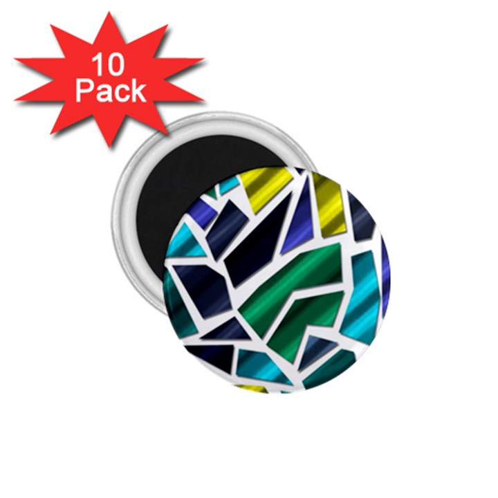 Mosaic Shapes 1.75  Magnets (10 pack)