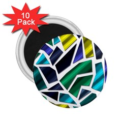 Mosaic Shapes 2.25  Magnets (10 pack)