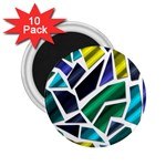 Mosaic Shapes 2.25  Magnets (10 pack)  Front