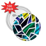 Mosaic Shapes 2.25  Buttons (100 pack)  Front