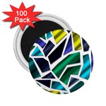 Mosaic Shapes 2.25  Magnets (100 pack)  Front