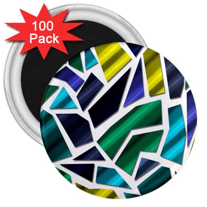 Mosaic Shapes 3  Magnets (100 pack)