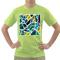 Mosaic Shapes Green T-Shirt