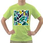 Mosaic Shapes Green T-Shirt Front