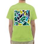 Mosaic Shapes Green T-Shirt Back