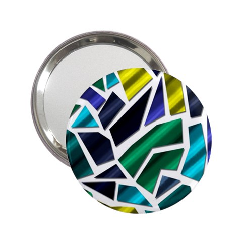 Mosaic Shapes 2.25  Handbag Mirrors