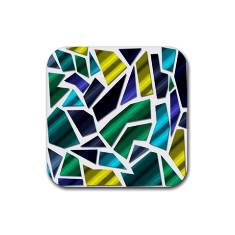 Mosaic Shapes Rubber Coaster (Square)