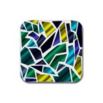 Mosaic Shapes Rubber Square Coaster (4 pack)  Front