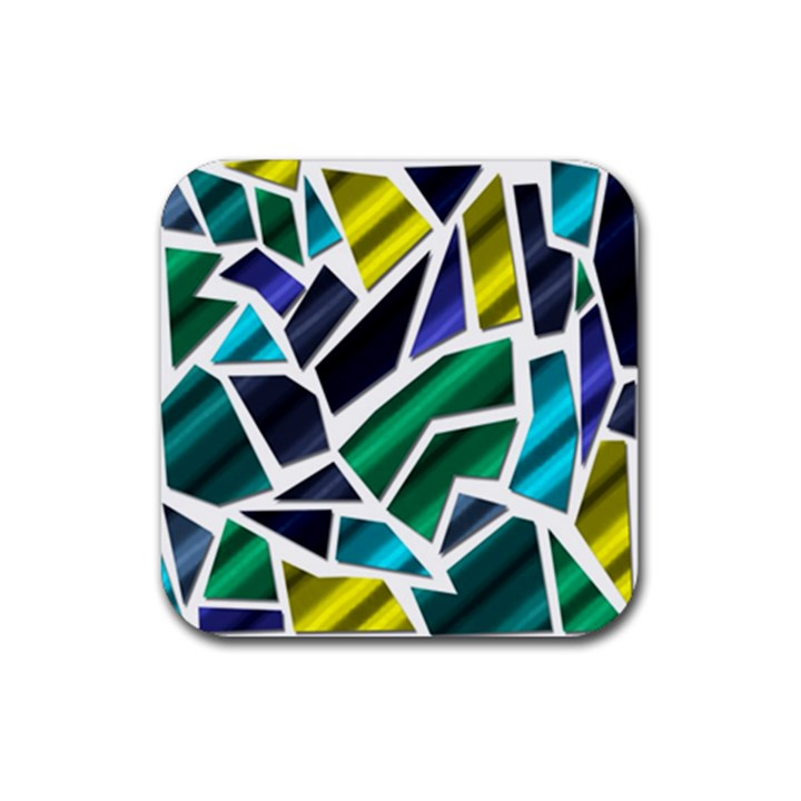 Mosaic Shapes Rubber Square Coaster (4 pack)