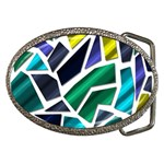 Mosaic Shapes Belt Buckles Front