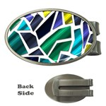 Mosaic Shapes Money Clips (Oval)  Front