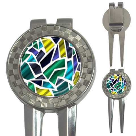 Mosaic Shapes 3-in-1 Golf Divots