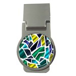 Mosaic Shapes Money Clips (Round)  Front
