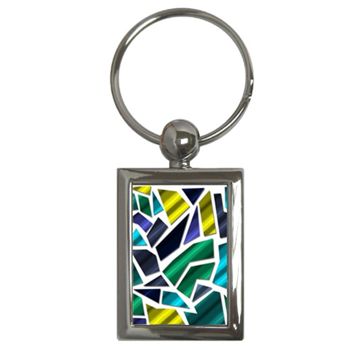 Mosaic Shapes Key Chains (Rectangle)