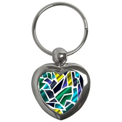 Mosaic Shapes Key Chains (Heart)
