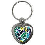 Mosaic Shapes Key Chains (Heart)  Front