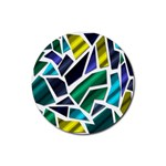 Mosaic Shapes Rubber Coaster (Round)  Front