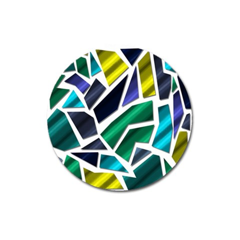 Mosaic Shapes Magnet 3  (Round)