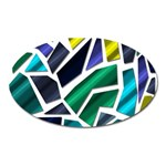 Mosaic Shapes Oval Magnet Front