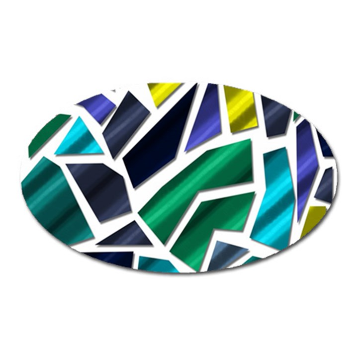 Mosaic Shapes Oval Magnet