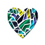 Mosaic Shapes Heart Magnet Front