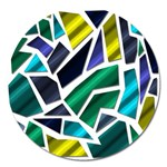 Mosaic Shapes Magnet 5  (Round) Front