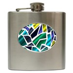 Mosaic Shapes Hip Flask (6 oz) Front