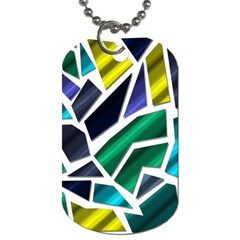 Mosaic Shapes Dog Tag (Two Sides)
