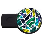 Mosaic Shapes USB Flash Drive Round (1 GB)  Front