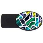 Mosaic Shapes USB Flash Drive Oval (1 GB)  Front