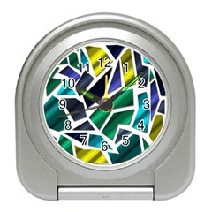 Mosaic Shapes Travel Alarm Clocks