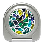 Mosaic Shapes Travel Alarm Clocks Front