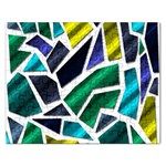 Mosaic Shapes Rectangular Jigsaw Puzzl Front