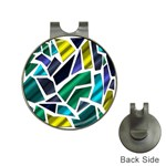 Mosaic Shapes Hat Clips with Golf Markers Front