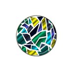 Mosaic Shapes Hat Clip Ball Marker Front