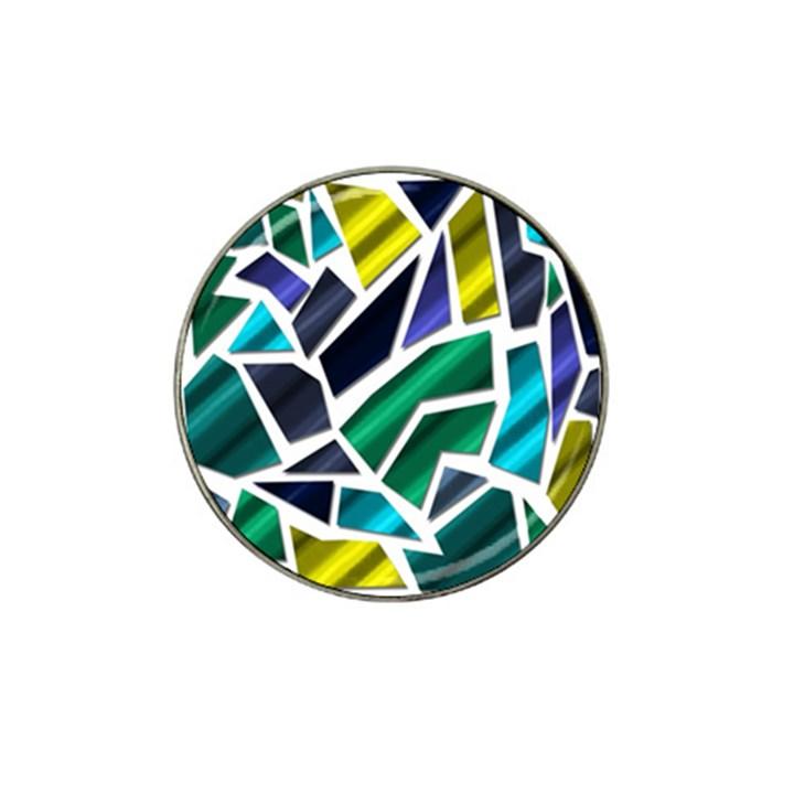 Mosaic Shapes Hat Clip Ball Marker