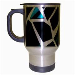 Mosaic Shapes Travel Mug (Silver Gray)