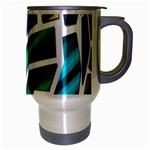 Mosaic Shapes Travel Mug (Silver Gray) Right