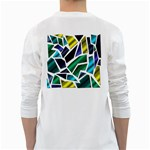 Mosaic Shapes White Long Sleeve T-Shirts Back