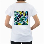 Mosaic Shapes Women s Loose-Fit T-Shirt (White) Back