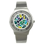 Mosaic Shapes Stainless Steel Watch Front
