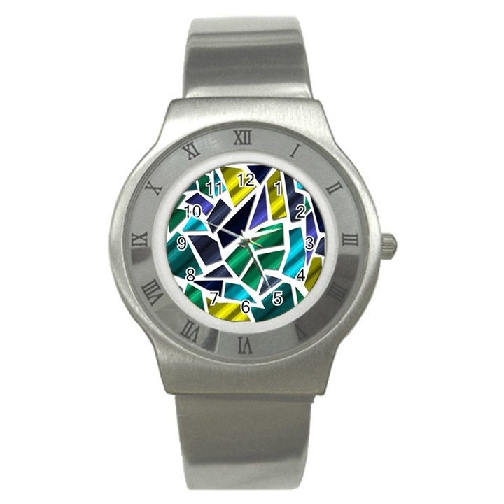 Mosaic Shapes Stainless Steel Watch