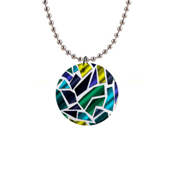 Mosaic Shapes Button Necklaces