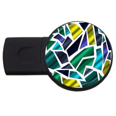 Mosaic Shapes USB Flash Drive Round (4 GB)