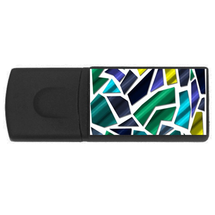 Mosaic Shapes USB Flash Drive Rectangular (4 GB)