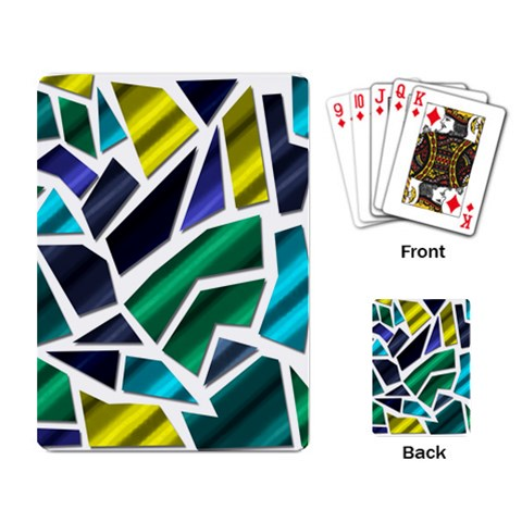 Mosaic Shapes Playing Card