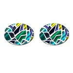 Mosaic Shapes Cufflinks (Oval) Front