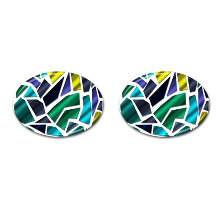 Mosaic Shapes Cufflinks (Oval)