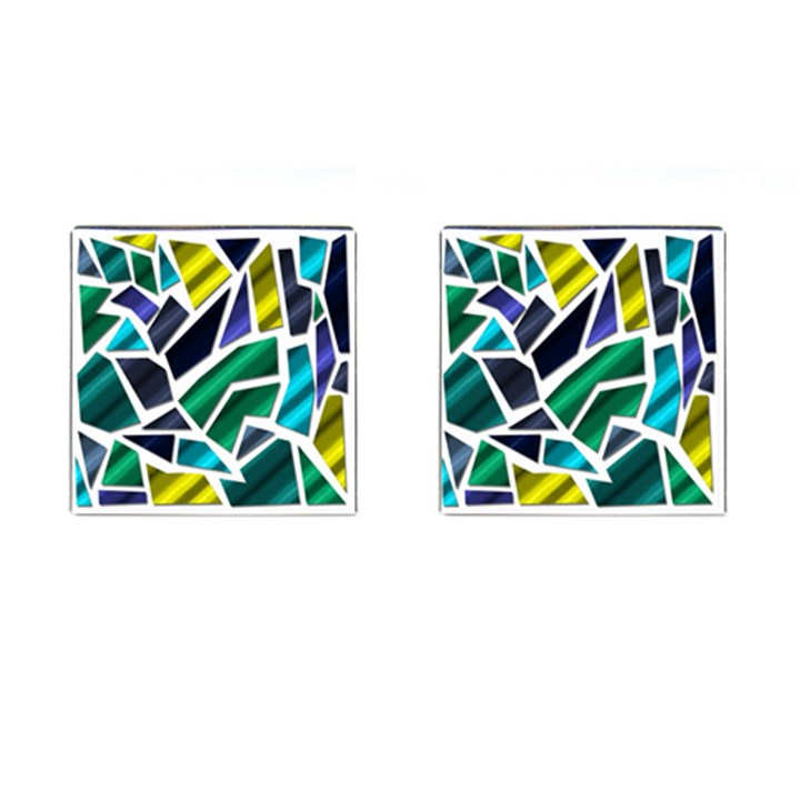 Mosaic Shapes Cufflinks (Square)